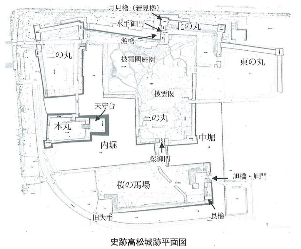 史跡 高松城跡平面図
